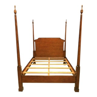 Leighton Hall Queen Size Mahogany Pencil Post Bedframe For Sale