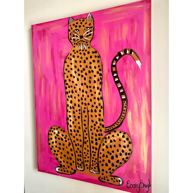 Large Abstract Leopard Painting by Ebony Boyd For Sale - Image 4 of 5