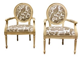 Image of Ivory Bergere Chairs