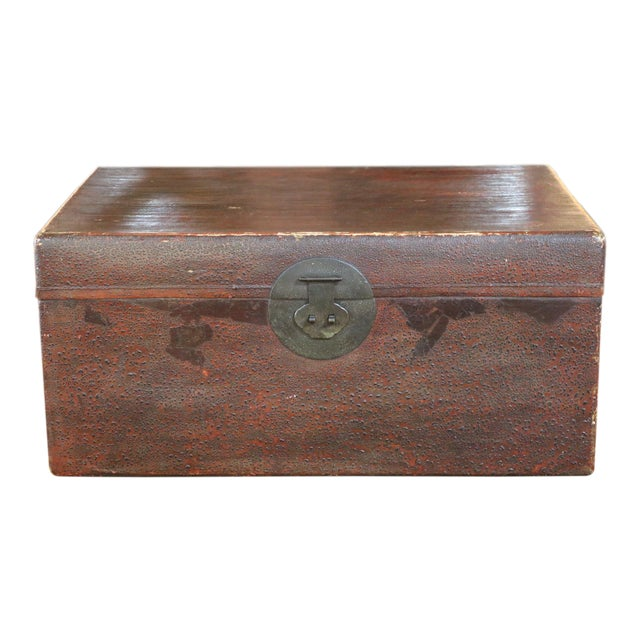 Mid 19th Century Chinese Vellum Trunk For Sale