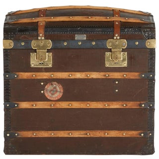 1920s French Moynat Steamer Trunk For Sale