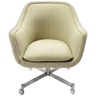 1960s Vintage Ward Bennett Modern Bumper Office Chair For Sale