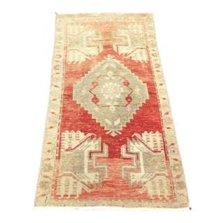 1960s Vintage Turkish Small Rug - 1′9″ × 3′3″ For Sale
