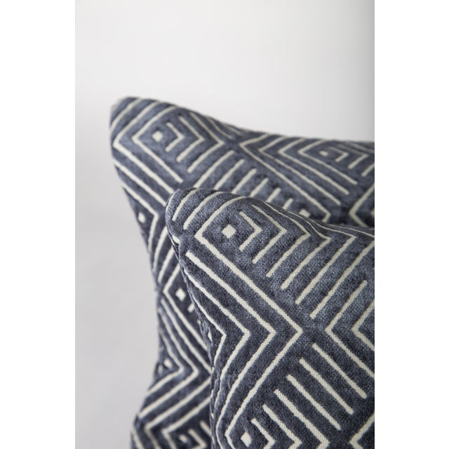 """2020s 20"""" X 12"""" Pollack Tipping Point Cut Velvet Pillows, Pair For Sale - Image 5 of 6"""