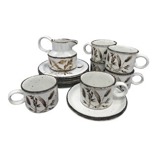 Midwinter's Wild Oats Stonehenge Cups, Saucers, Bread Plates and Creamer - 15 Pieces