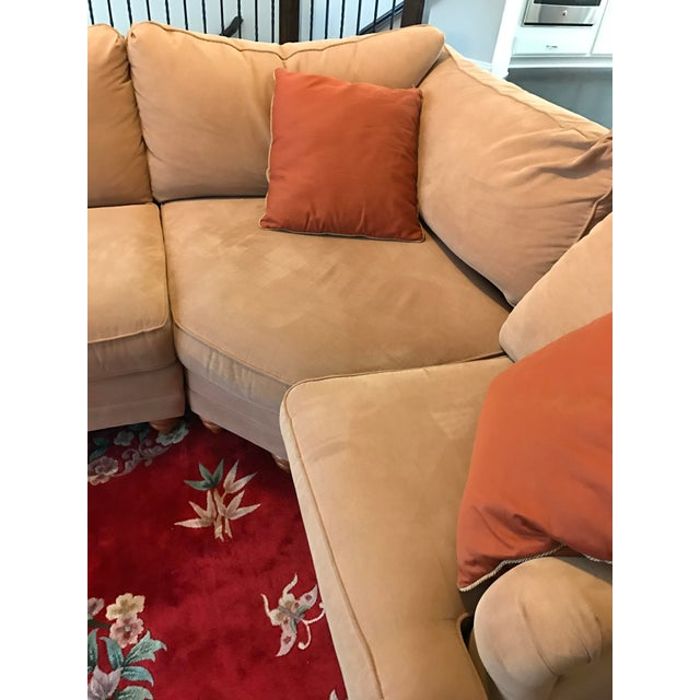 Bassett Furniture Atlanta: Microfiber Bassett Custom Sectional
