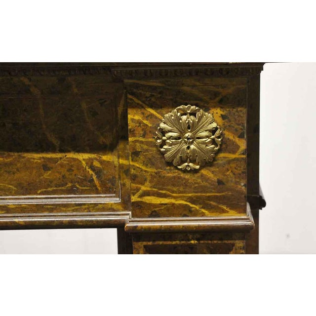 Late 19th Century Antique Wooden Regency Mantel With Faux Marble Look For Sale - Image 5 of 10
