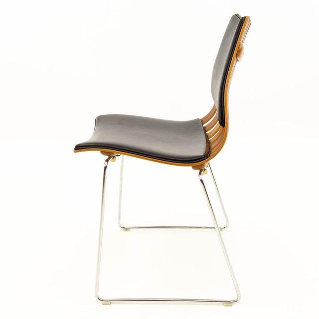 Hove Mobler Vintage Mid Century Hans Brattrud for Hove Mobler Teak Padded Scandia Chair For Sale - Image 4 of 8