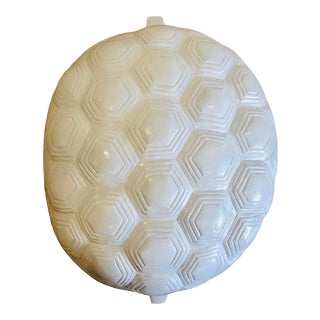 X White Modern Metal Turtle Shell Wall Hanging For Sale