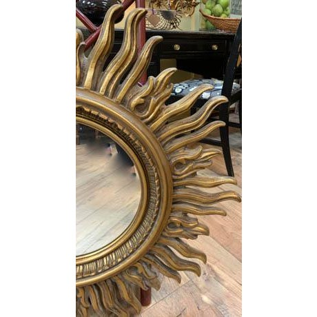 Vintage Starburst Mirror For Sale - Image 4 of 6