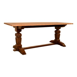 Late 19th C Trestle Table For Sale