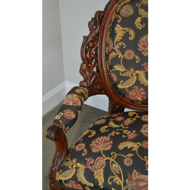 Rococo Revival Fine Carved Rosewood Sofa For Sale - Image 12 of 13