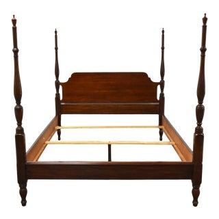 Henkel Harris Mahogany Queen Four Post Bed For Sale