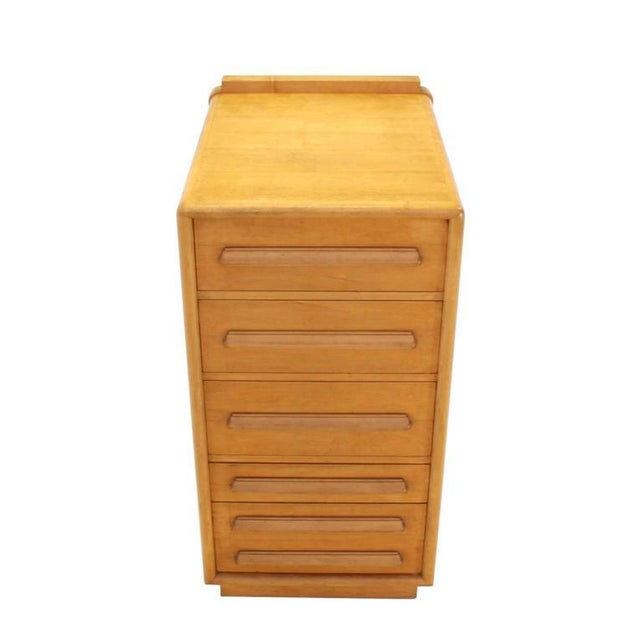 """Unusual 48"""" high very solid build deep drawers file or specialty cabinet."""