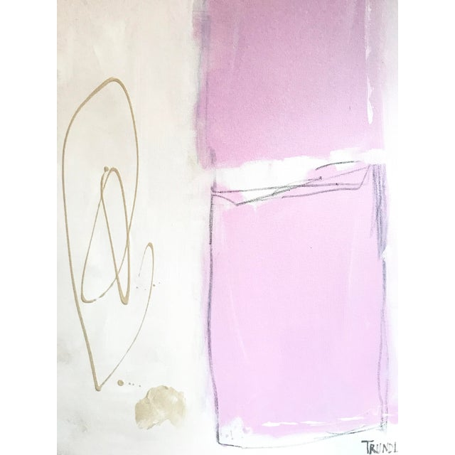 Shapes in Pink Contemporary Painting For Sale - Image 4 of 7