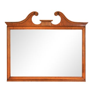 Large Open Scroll Pediment Mirror For Sale