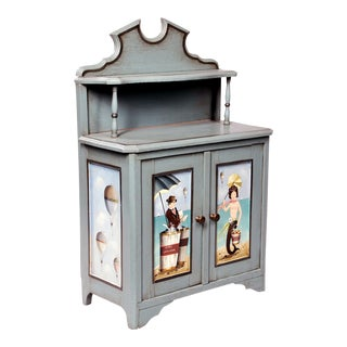 Ralph Cahoon Small Paint-decorated Cabinet, Bob's Chowder & Carol's Jams. Signed and dated 1979.