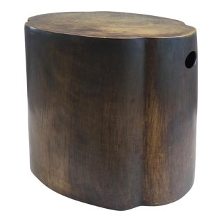 Patinated Bronze Stool / Side Table For Sale