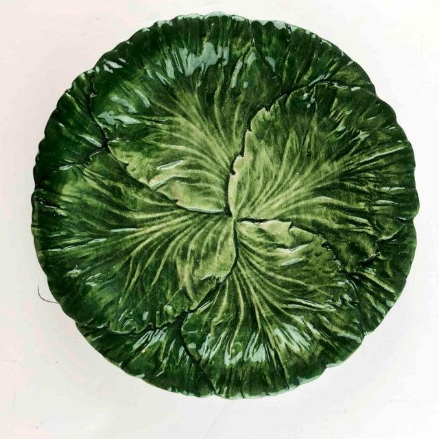Vintage Vietri Italy Lettuce Leaf Plates – Set of 6 For Sale - Image 4 of 12