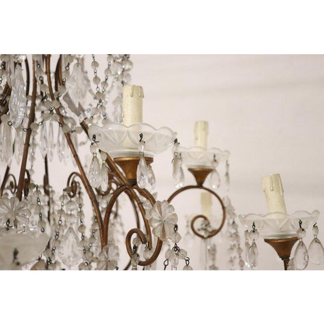 20th Century Louis XVI Style Gilded Bronze and Crystals Large Luxury Chandelier For Sale - Image 4 of 11