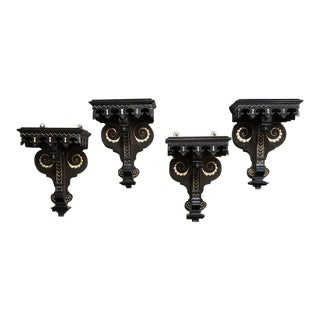 19th Century Napoleon III Period French Painted Wall Sconces - Set of 4 For Sale