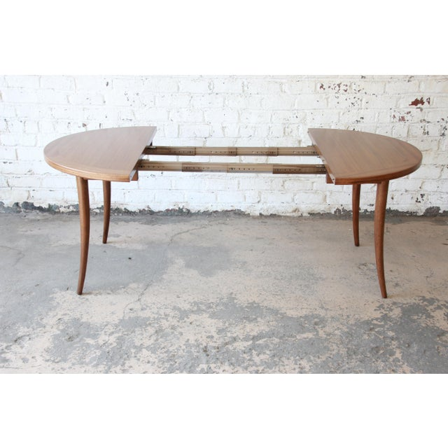 Mahogany Harvey Probber Mid-Century Modern Mahogany Saber Leg Extension Dining Table For Sale - Image 7 of 13