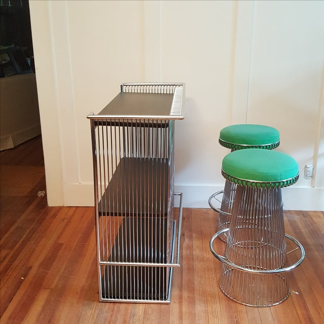 Mid Century Platner Style Bar Stools & Table Set - Image 3 of 11