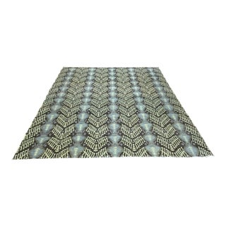 Contemproray Ikat Design Rug - 9′5″ × 12′7″ For Sale