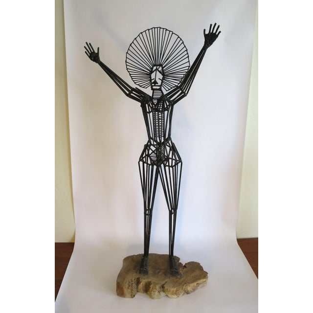 Mid-Century Abstract Figurative Metal Sculpture - Image 2 of 9