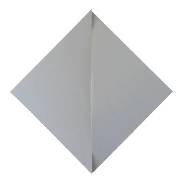 """Jan Maarten Voskuil """"Non-Fit Triangles I (Gray)"""" Acrylics on Linen, 2017 For Sale"""