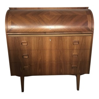1960s Swedish Modern Egon Ostergaard Rolltop Desk For Sale