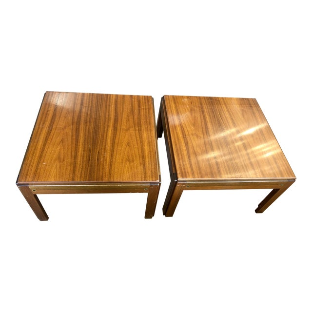 20th Century Danish Mahogany End Tables - a Pair For Sale