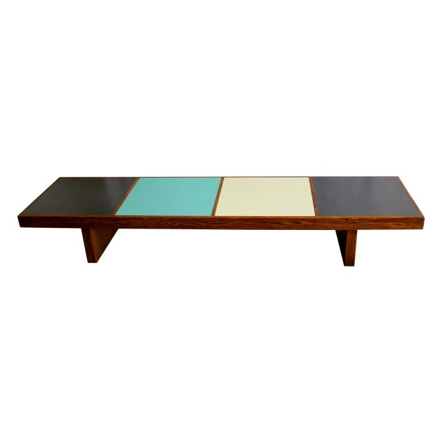 Harvey Probber Colorblock Coffee Table Bench - Image 1 of 10