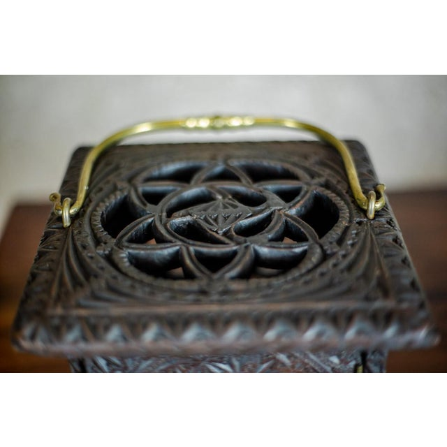 Late 18th Century Wooden Foot Warmer For Sale - Image 6 of 11
