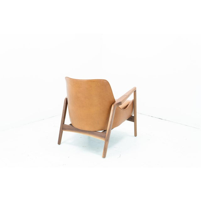 Mid-Century Modern Hand Crafted Sculpted Walnut Camel Seal Chair For Sale - Image 3 of 4
