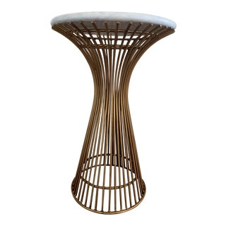 Contemporary Mecox Gold Iron Spoke Round Side Table For Sale