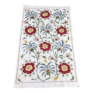 Famous 16th Century Vintage Design Table Runner Silk and Cotton Fabric For Sale