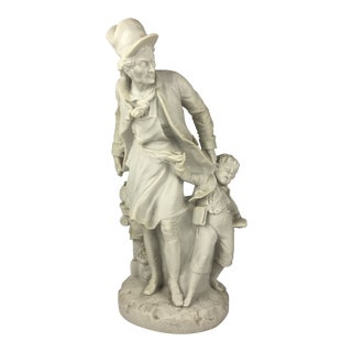 Vintage Alabaster Figural Statue For Sale