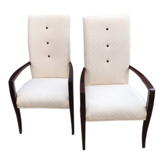Hickory White Chairs - A Pair For Sale