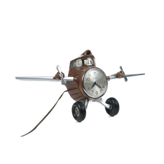 MasterCrafters Sessions Airplane Electric Clock - Image 7 of 10