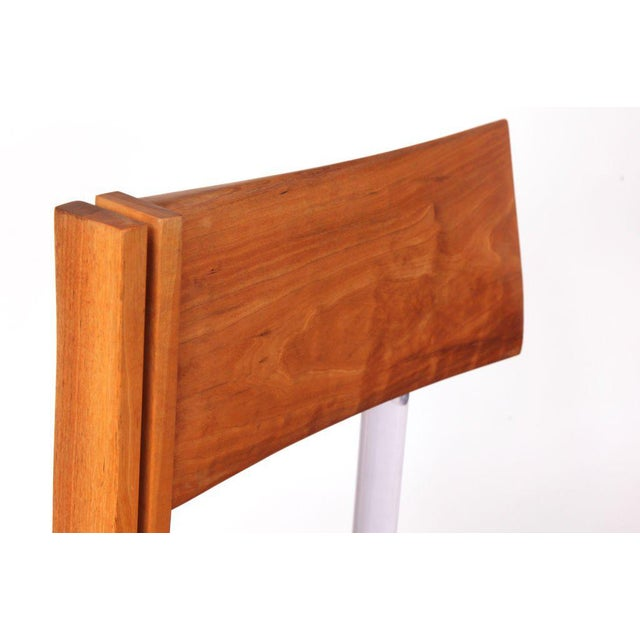 Mid-Century Modern Three Cherry Bronze and Lucite Barstools For Sale - Image 3 of 7