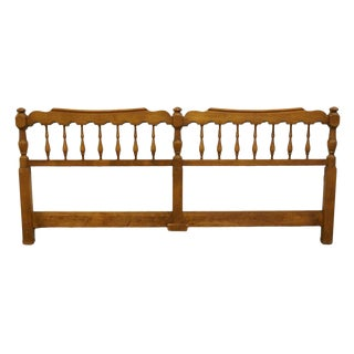 20th Century British Colonial Pennsylvania House Solid Maple King Size Headboard For Sale
