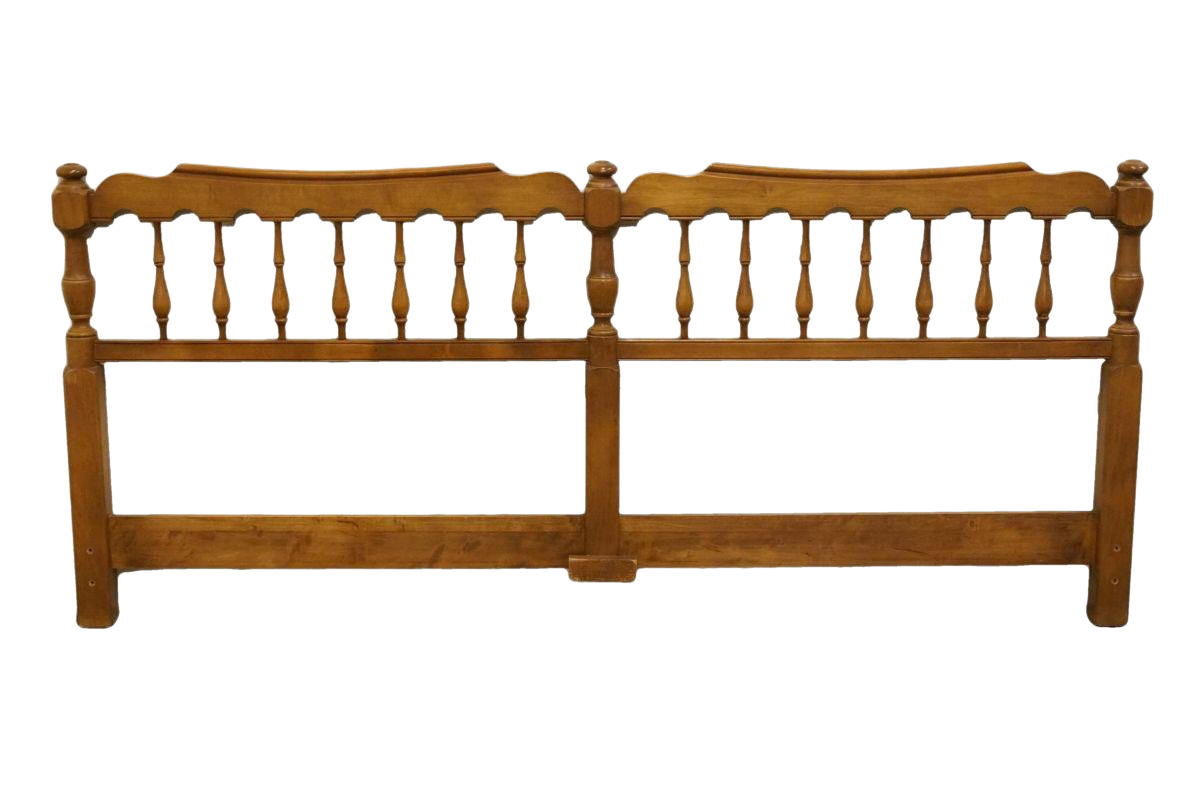 20th Century British Colonial Pennsylvania House Solid Maple King Size  Headboard