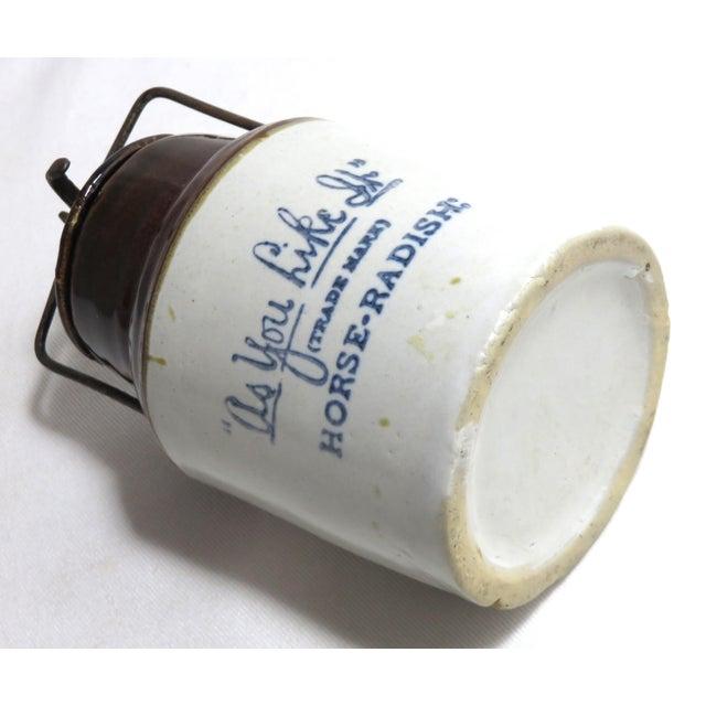 Antique American Stoneware Horsh Radish Jar For Sale In Boston - Image 6 of 13