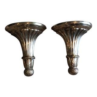 Brass Wall Brackets- A Pair