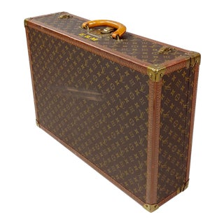 Louis Vuitton Bisten 55 Original Hard Leather Monogram Suitcase For Sale