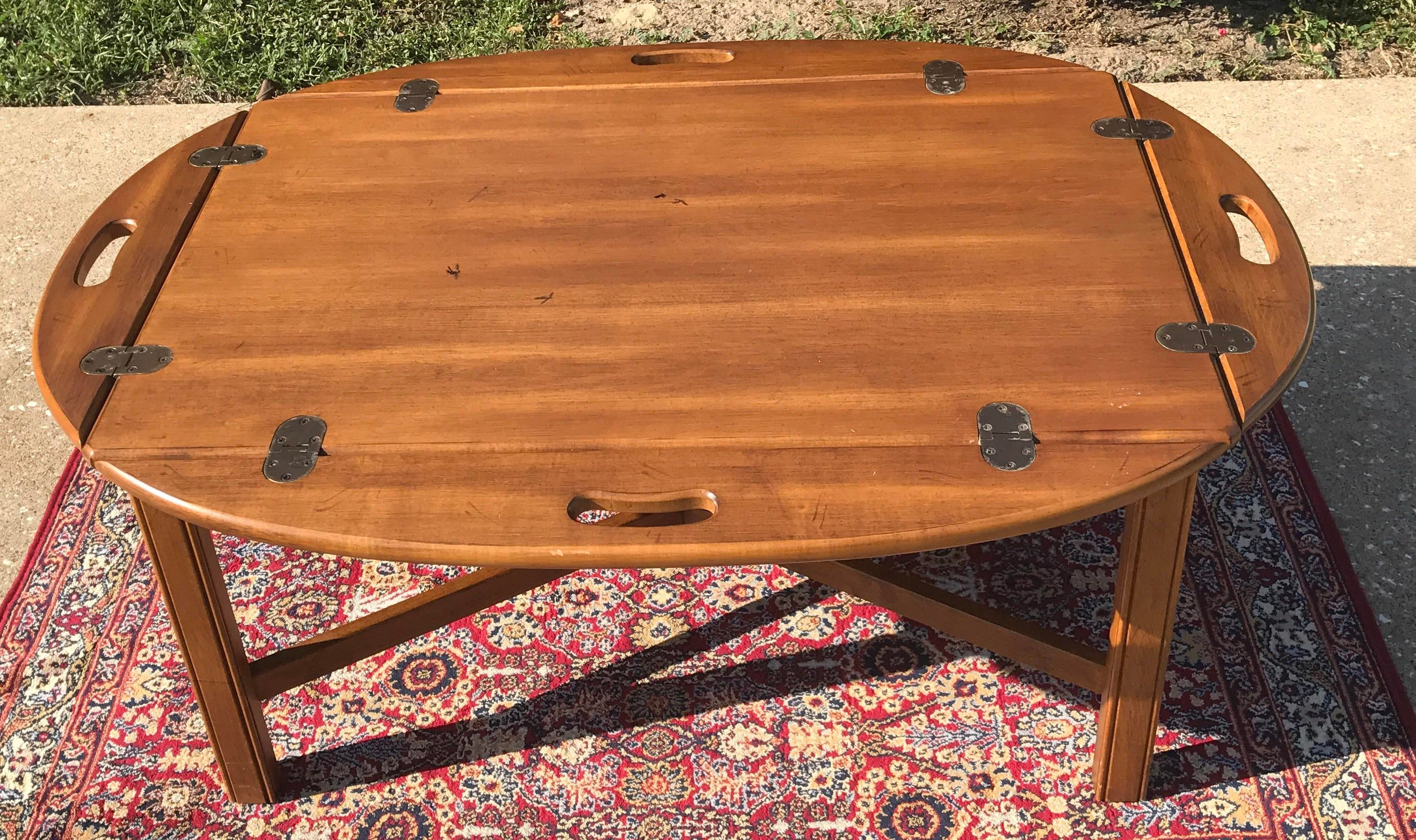 Vintage Ethan Allen Butleru0027s Tray Coffee Table   Image 2 Of 11