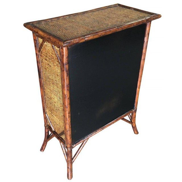 Restored Tiger Bamboo Cabinet With Rice Mat Covering - Image 4 of 5