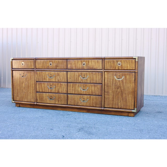 Campaign Drexel Heritage Accolade II Low 10 Drawer Dresser For Sale - Image 11 of 11