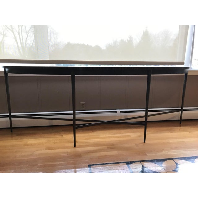 Modern Modern McGuire Demilune Console Table For Sale - Image 3 of 5